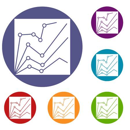 metrics: Financial statistics icons set