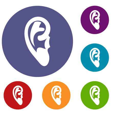 Ear icons set