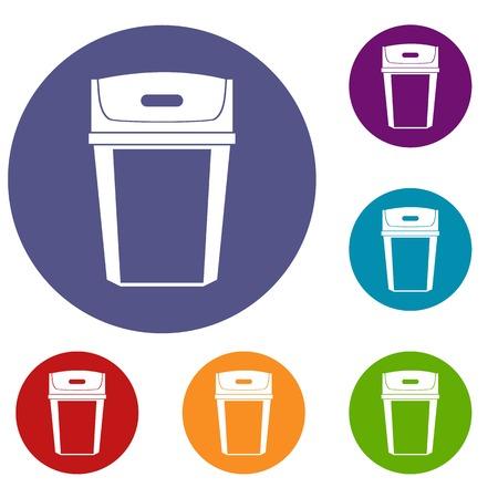 trashcan: Big trashcan icons set