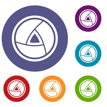 Objective icons set illustration.