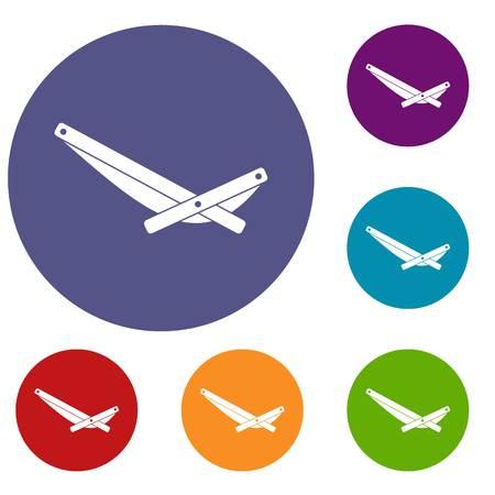 Recliner icons set illustration. Illustration