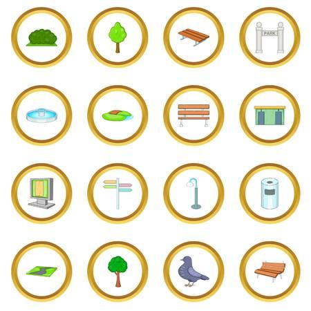 Cercle d'icônes de parc Banque d'images - 81806246
