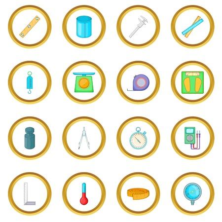 Meetgereedschappen pictogrammen cirkel