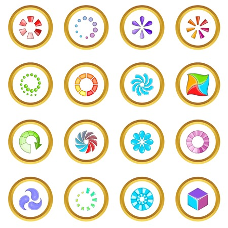 Download status icons circle Illustration