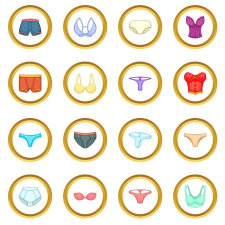 Underwear icons circle Stok Fotoğraf - 81805150