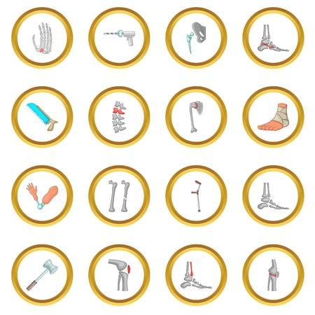 Orthopedic and spine icons circle Çizim