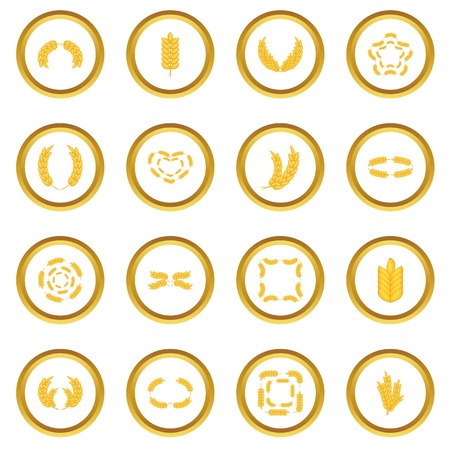 sheaf: Ear corn icons circle