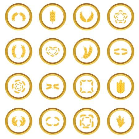 Ear corn icons circle