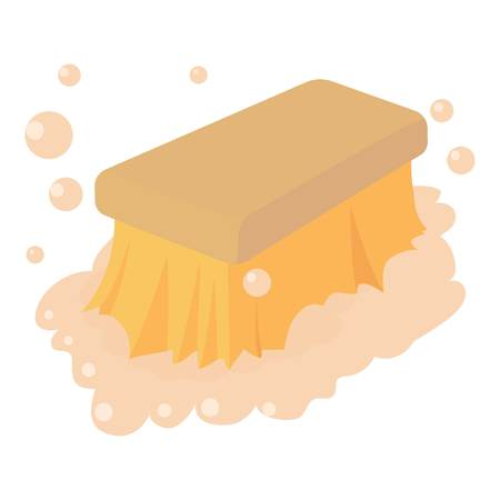 Wet cleaning icon, cartoon style