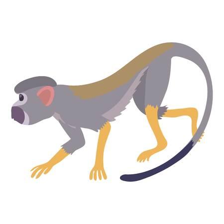Going forward monkey icon, cartoon style