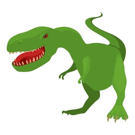 tyrannosaur: Dinosaur tyrannosaur icon, cartoon style