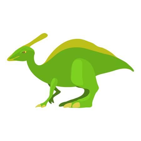 Parasaurolof icon, cartoon style Illustration