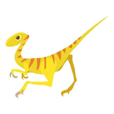 Velociraptor icon, cartoon style Illustration