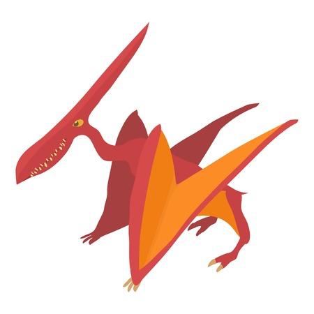 pterodactyl: Pterodactyl icon, cartoon style