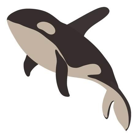 Grampus icon, cartoon style