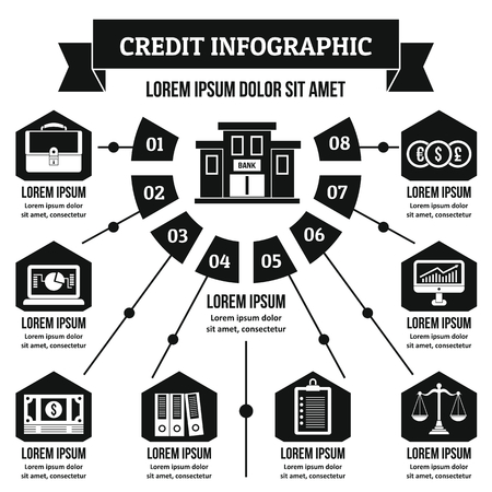 scale: Credit infographic concept, simple style