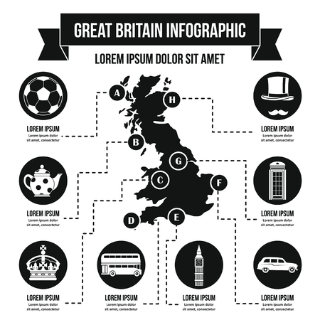 Great Britain infographic concept, simple style