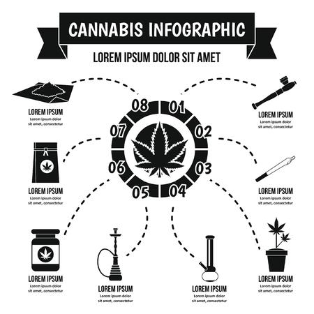 legalize: Cannabis infographic concept, simple style Illustration