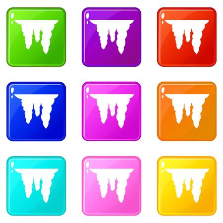 Icicles icons 9 set
