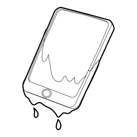 Gadget in water icon, outline style Illustration