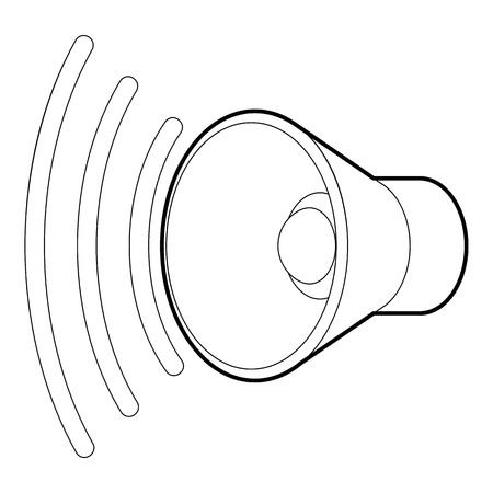 loud: Loud, volume up icon, outline style
