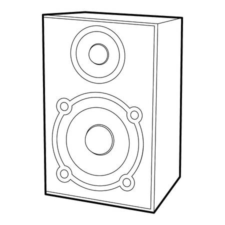 loud speaker: Speaker icon, outline style Illustration