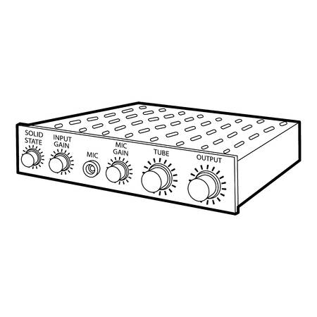 electronic music: Amplifier icon, outline style