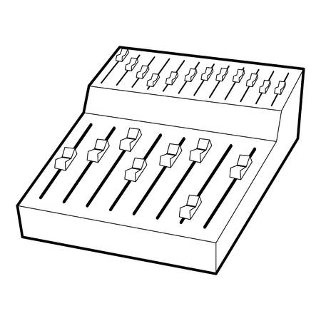 Equalizer icon, outline style Illustration