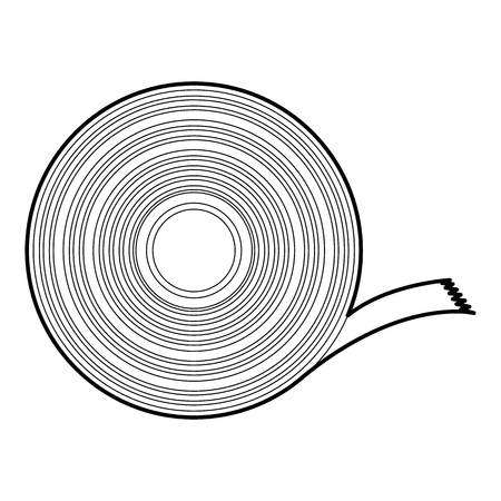 Duct tape icon, outline style