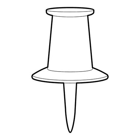 drawing pin: Thumbtack icon, outline style