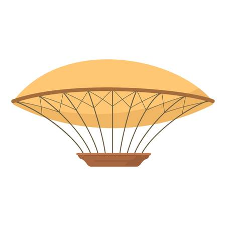 blimp: Airship icon, cartoon style Illustration