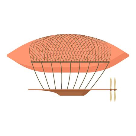 Icône de dirigeable, style cartoon Banque d'images - 82102684