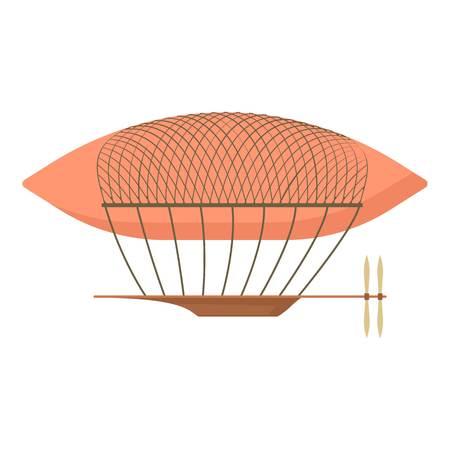 Airship icon, cartoon style Illustration