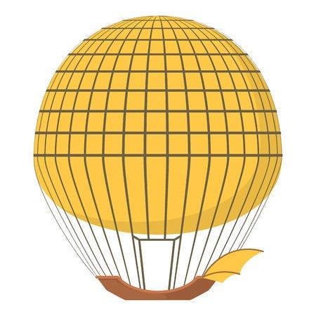 Aerostat icon, cartoon style Illustration