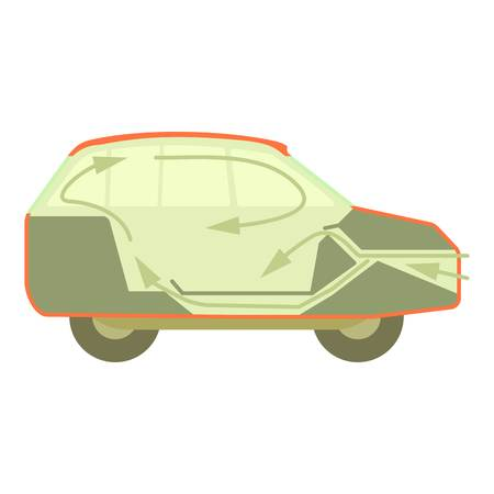 car air conditioner clipart. air conditioner car: car ventilation icon, cartoon style clipart