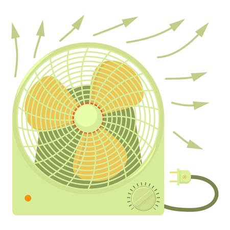 bask: Fan heater icon, cartoon style Illustration
