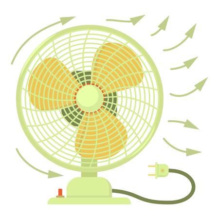 Fan icon, cartoon style Illustration