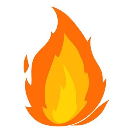 Ikona płomienia, stylu cartoon Ilustracje wektorowe
