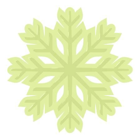 Cold icon, cartoon style