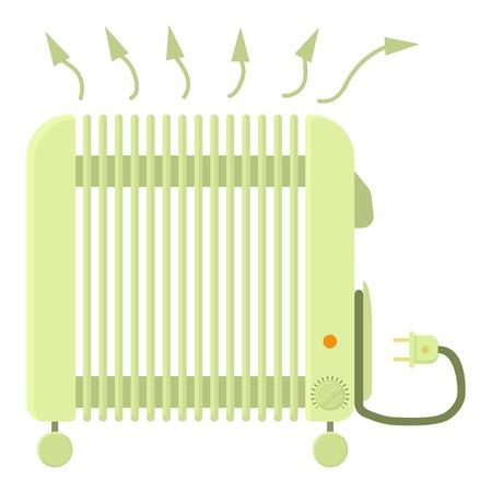 Heater icon, cartoon style Illustration