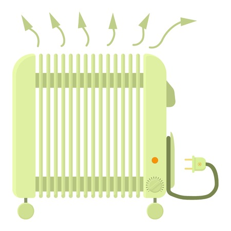 Heater icon, cartoon style Illustration