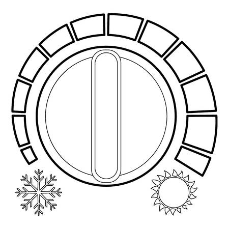 Cold heat regulator icon, outline style