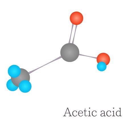 Acetic acid 3D molecule chemical science