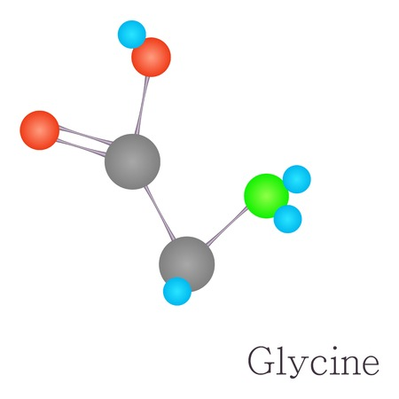 synaptic: Glycine 3D molecule chemical science Illustration
