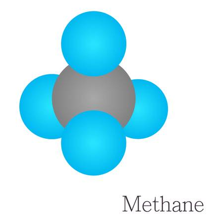 methane: Methane 3D molecule chemical science