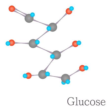 Glucose 3D molecule chemical science Illustration