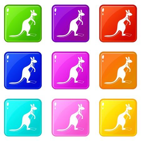Kangaroo icons 9 set