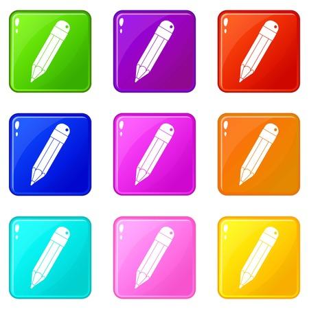 Pencil icons 9 set