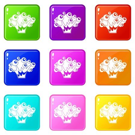 icônes de l & # 39 ; explosion de puissance de l Vecteurs