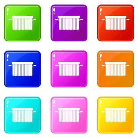 Garbage tank icons 9 set